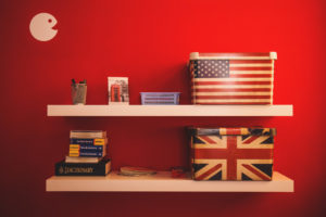 flags of US and UK