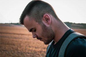 a man in a field