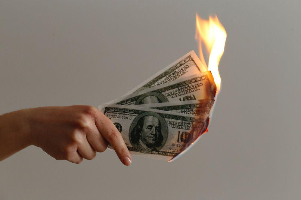 bill being burned