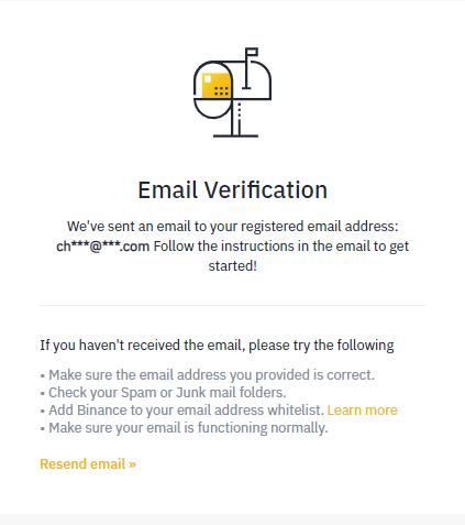 binance email