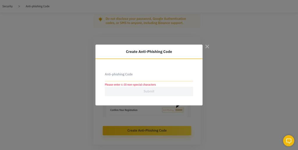 binance anti phishing