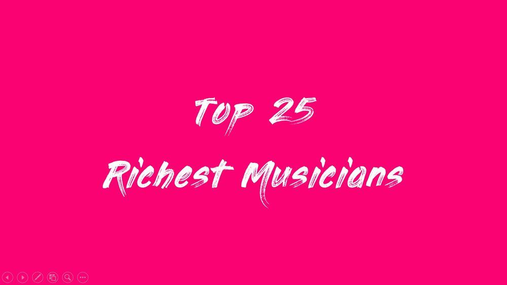 ミュージシャン・長者番付・ベスト25・2020